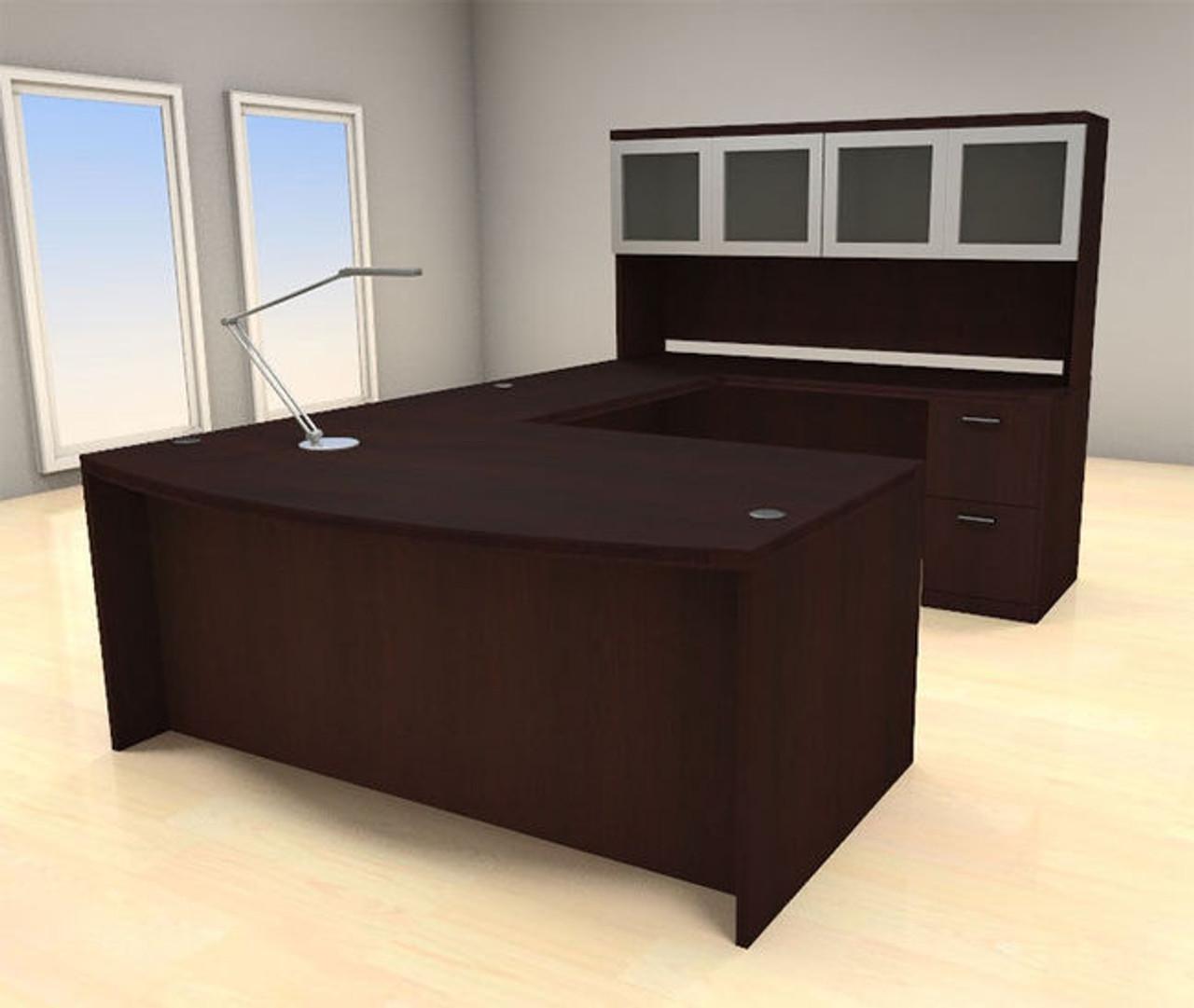 5pc U Shape Modern Executive Office Desk Set, #CH-AMB-U70