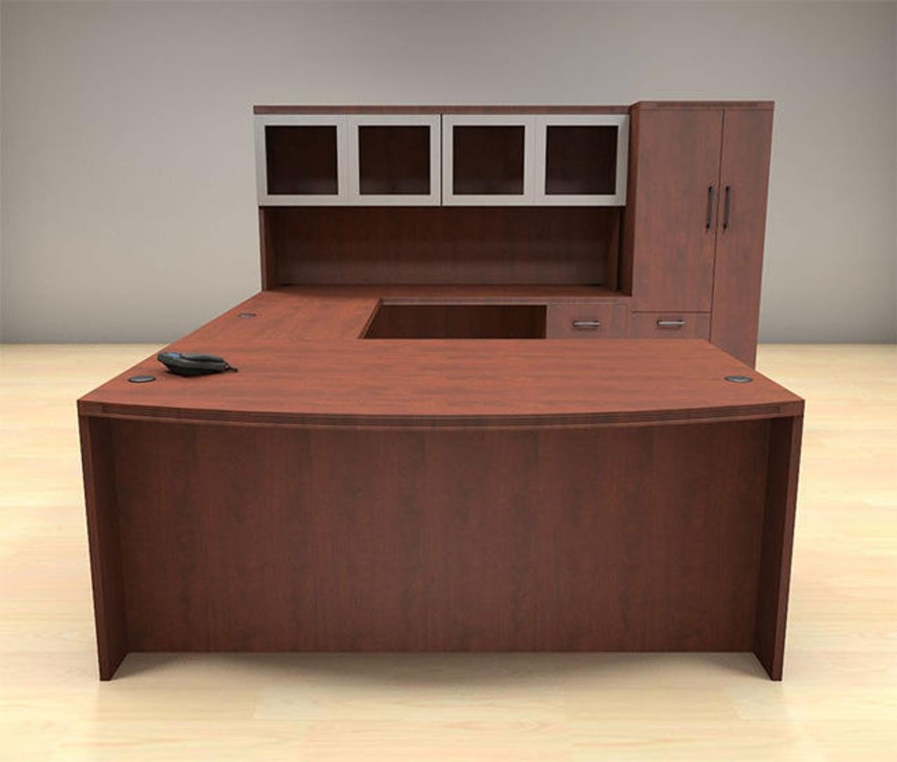 6pc U Shape Modern Executive Office Desk Set, #CH-AMB-U65