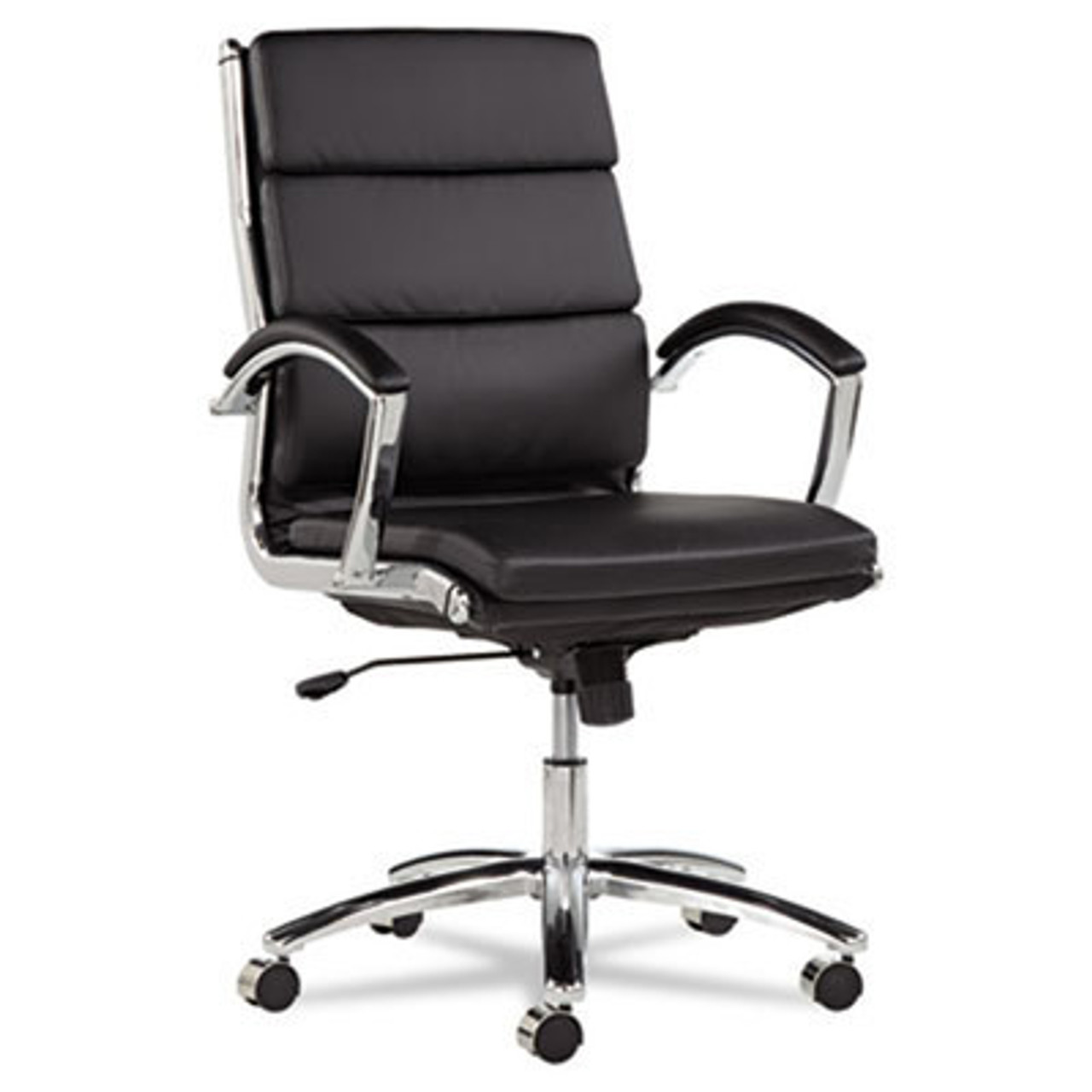 Mid Back Modern Leather Swivel/Tilt Office Chair, #AL-NR4219