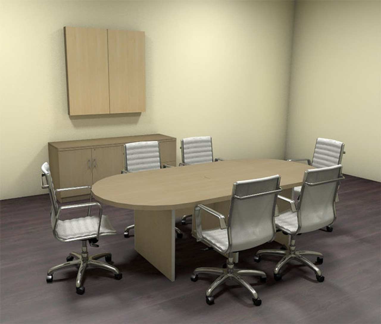 Modern Racetrack 8' Feet Conference Table, #CH-AMB-C32