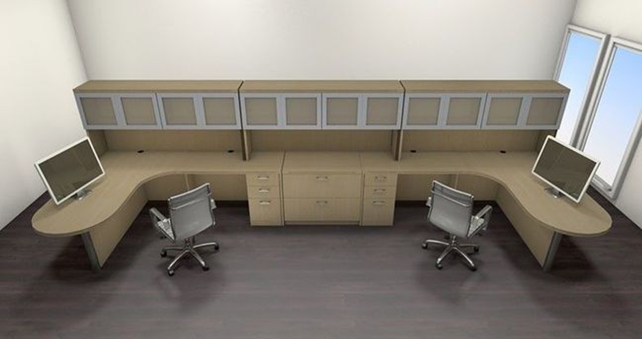 Two Persons Modern Executive Office Workstation Desk Set, #CH-AMB-S80
