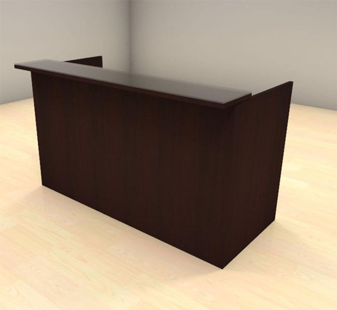 2pc Modern Glass Counter Reception Desk Set, #CH-AMB-R5