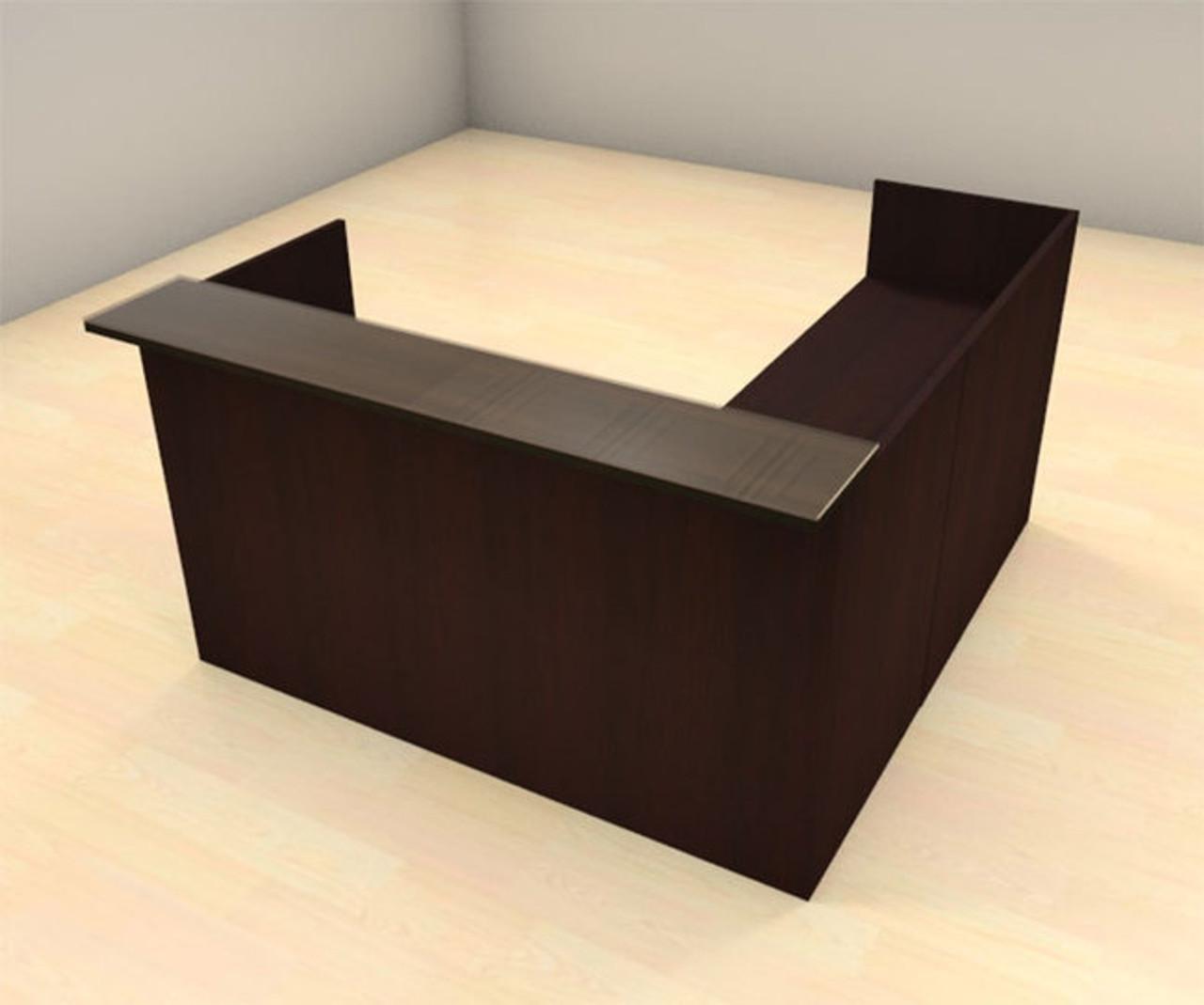 3pc L Shape Modern Glass Counter Reception Desk Set, #CH-AMB-R7