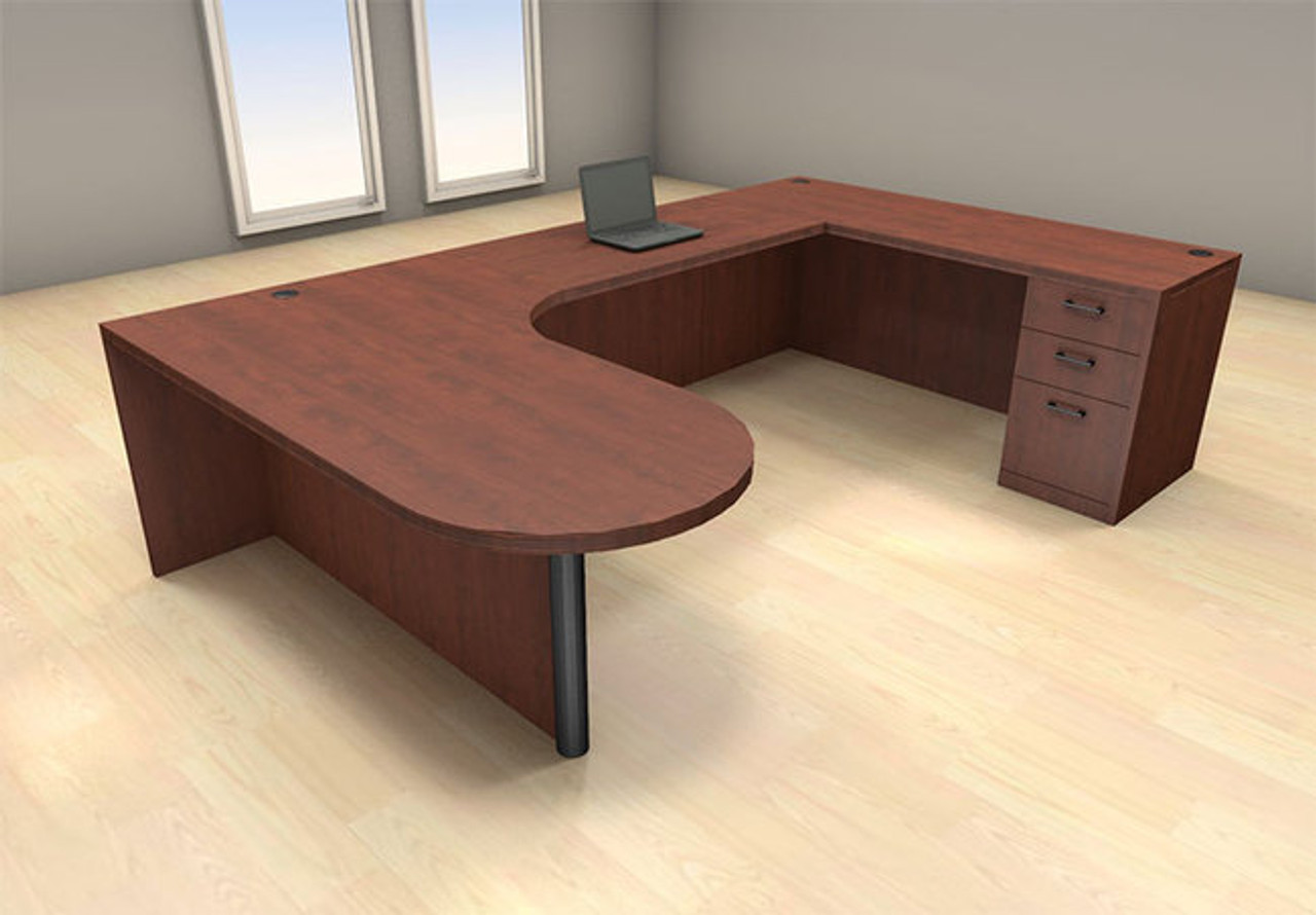 4pc U Shape Modern Executive Office Desk Set, #CH-AMB-U10