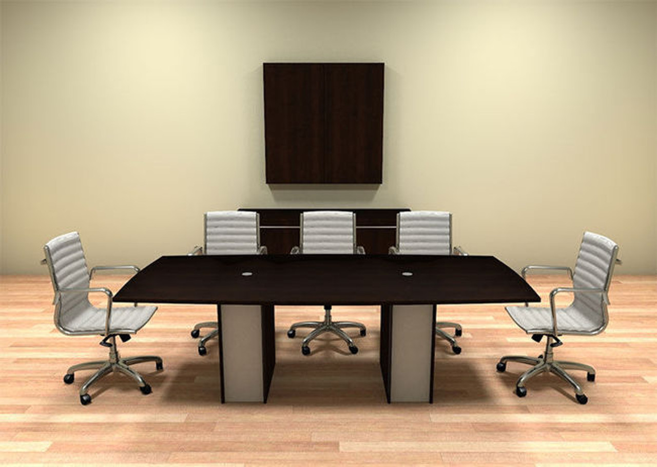 Modern Cotemporary Boat Shape 8' Feet Conference Table, #CH-VER-C2