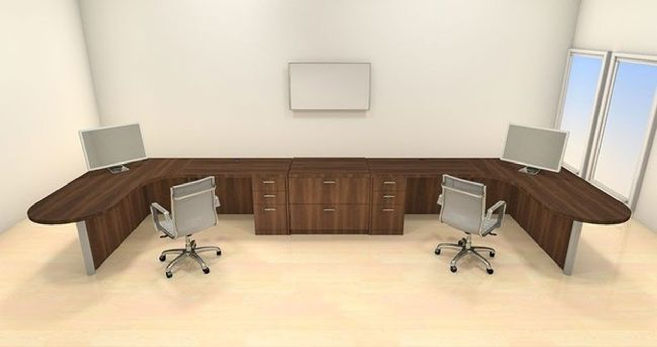 Two Persons Modern Executive Office Workstation Desk Set, #CH-AMB-S74