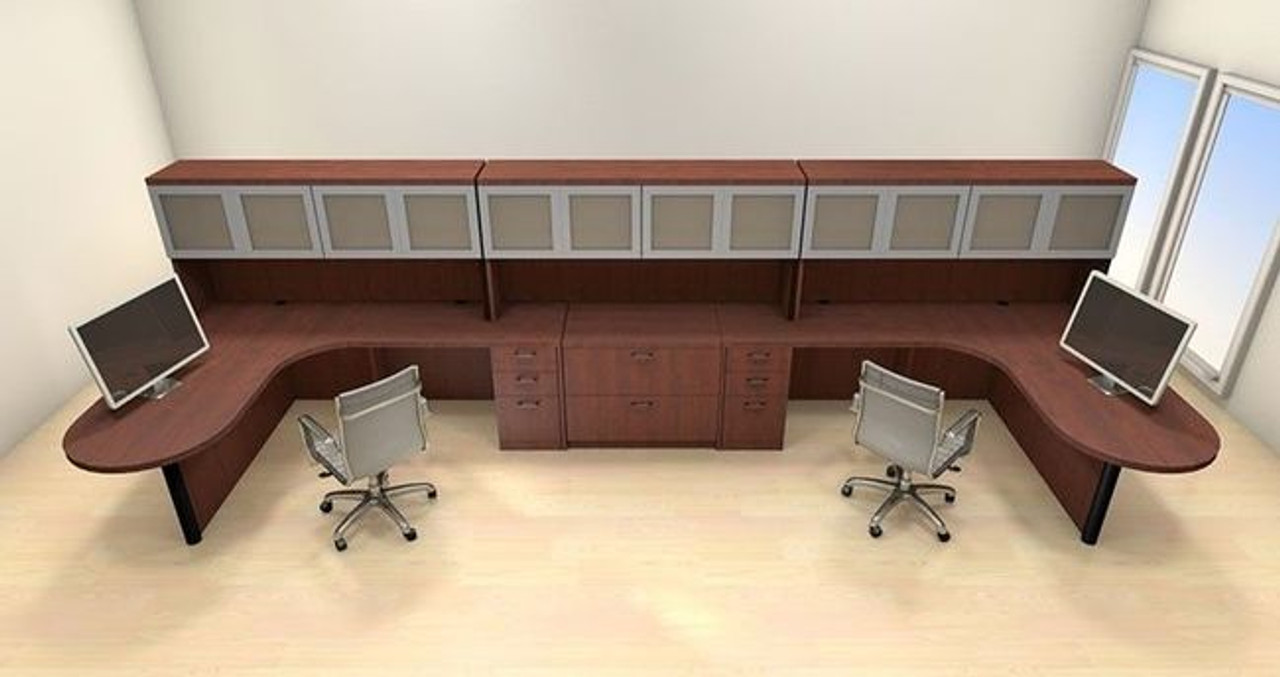 Two Persons Modern Executive Office Workstation Desk Set, #CH-AMB-S76