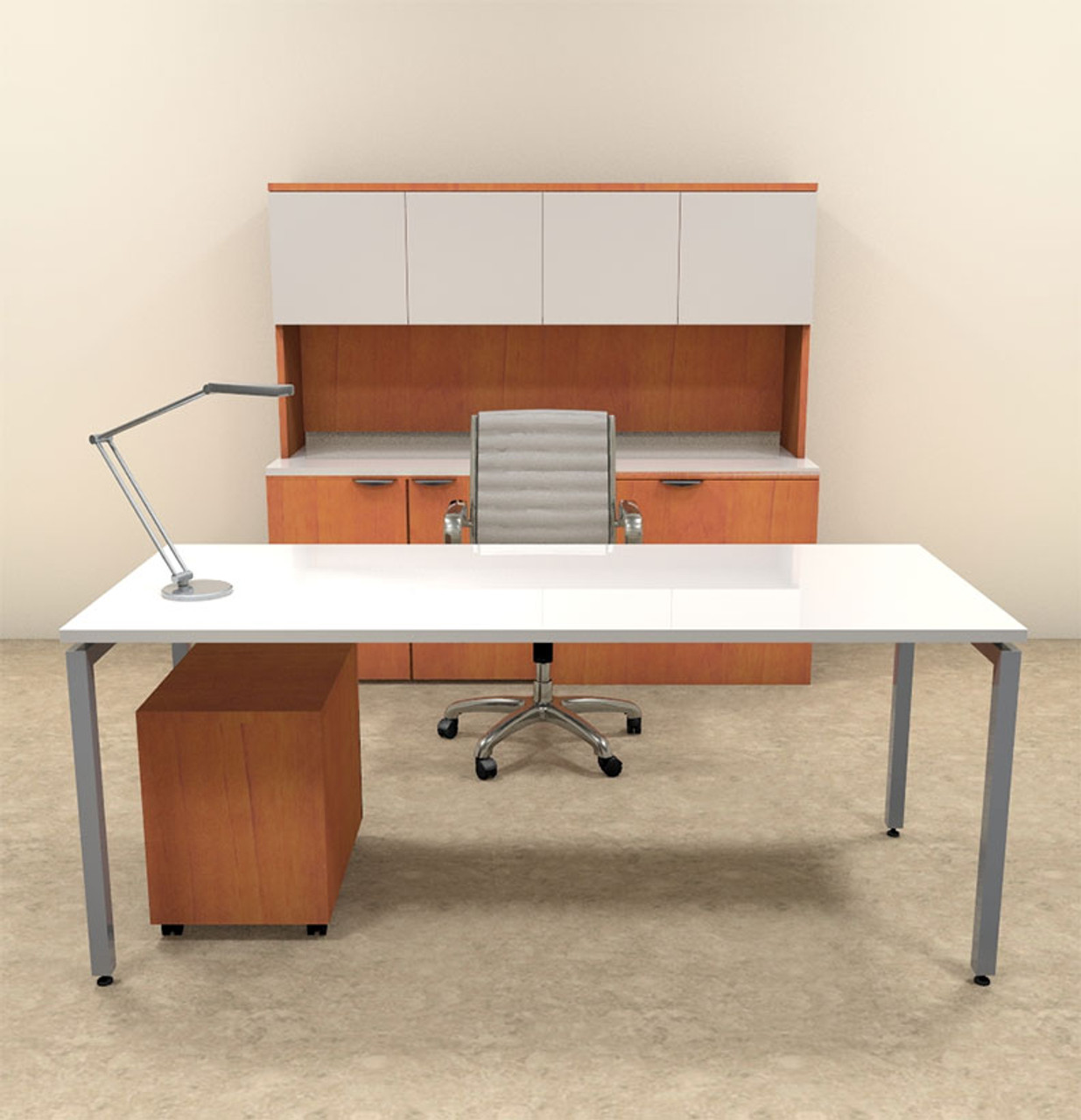 4pc Modern Contemporary Executive Office Desk Set, #OF-CON-D11