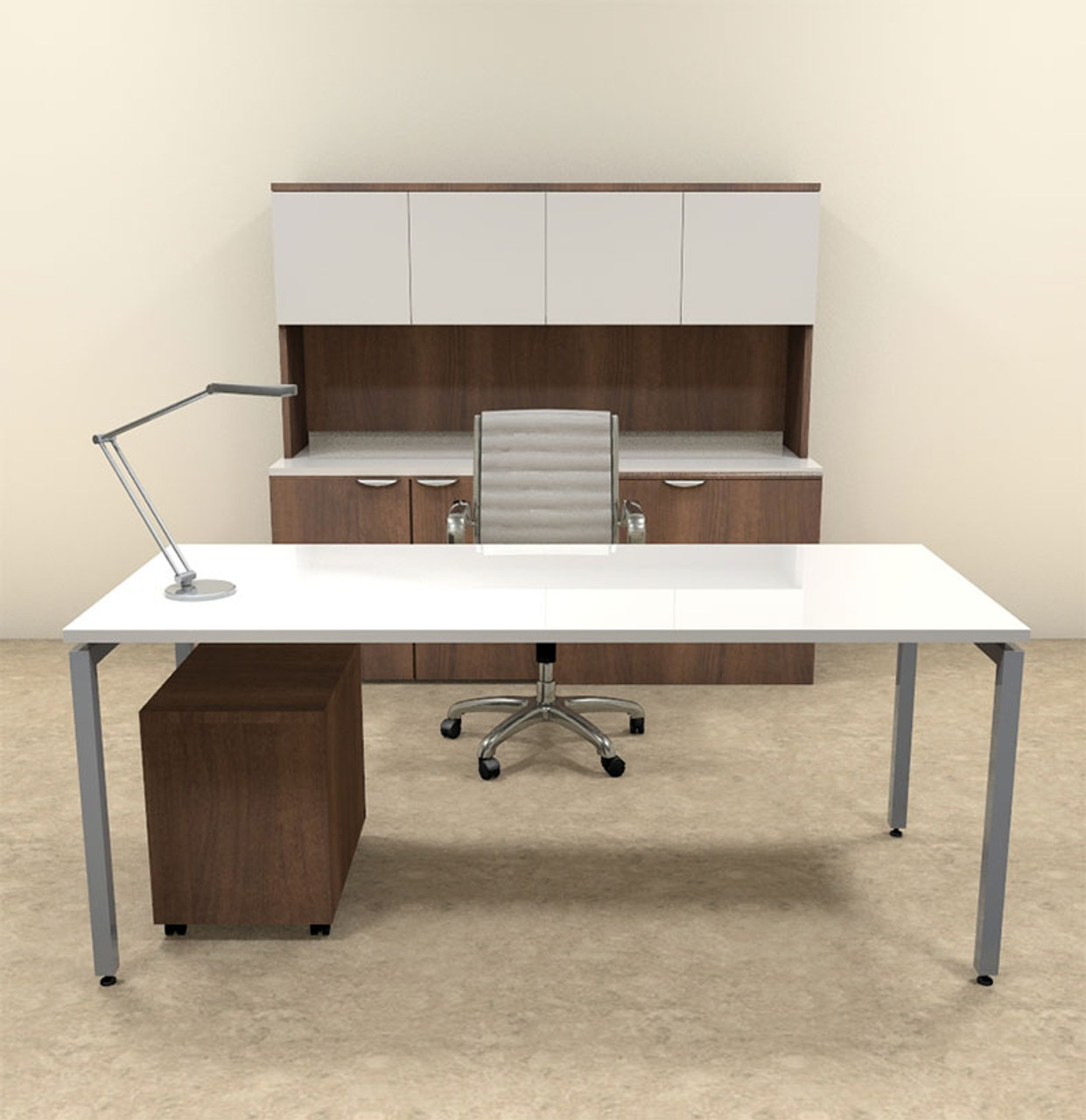 4pc Modern Contemporary Executive Office Desk Set, #OF-CON-D14