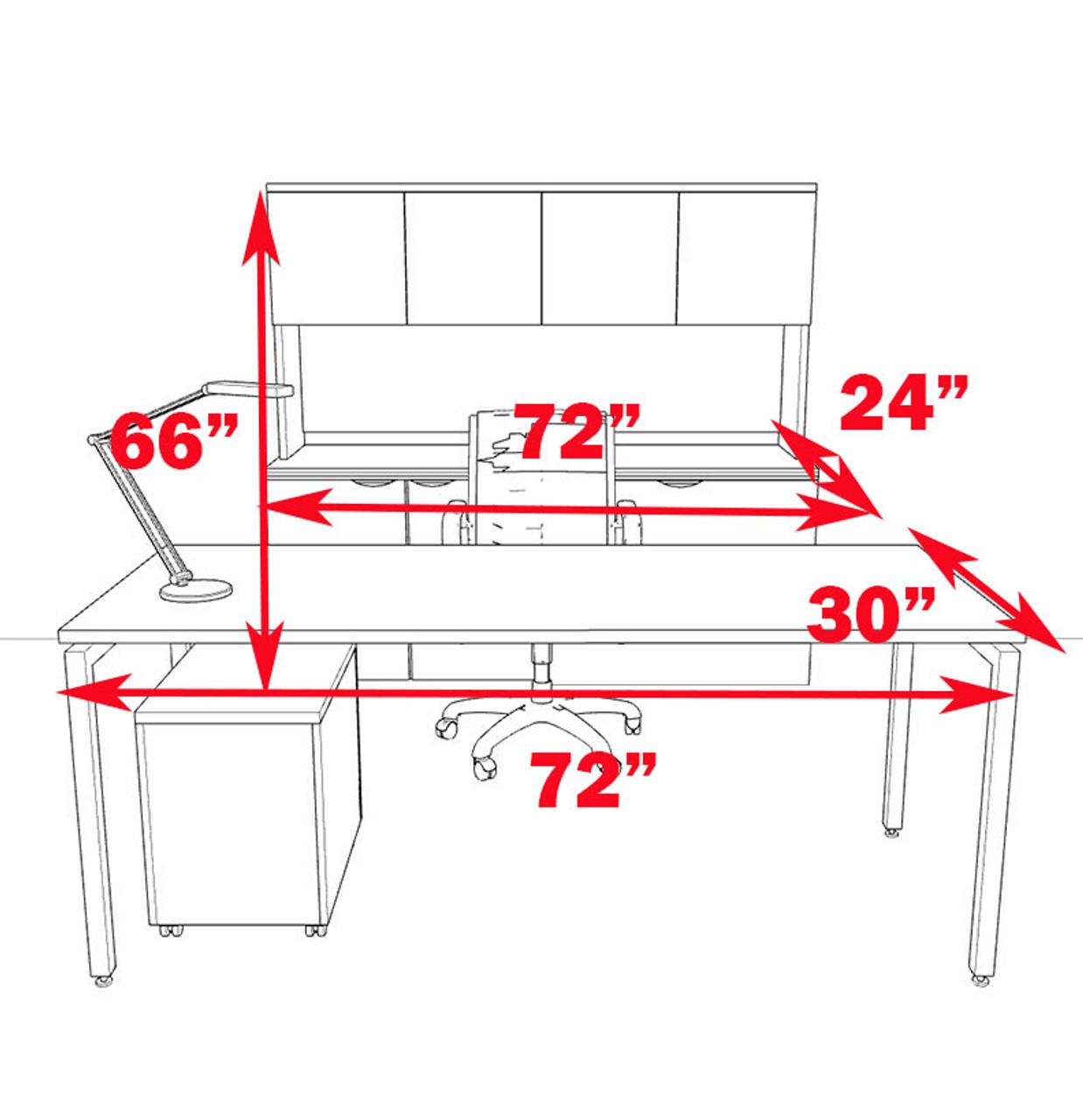 4pc Modern Contemporary Executive Office Desk Set, #OF-CON-D15