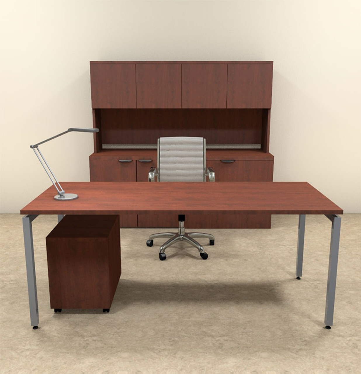 4pc Modern Contemporary Executive Office Desk Set, #OF-CON-D7