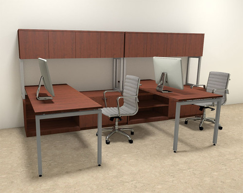 Two Persons Modern Executive Office Workstation Desk Set, #OF-CON-S2