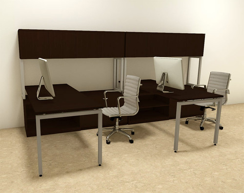 Two Persons Modern Executive Office Workstation Desk Set, #OF-CON-S5