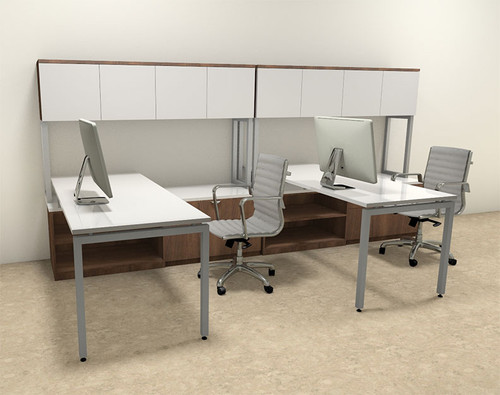 Two Persons Modern Executive Office Workstation Desk Set, #OF-CON-S9