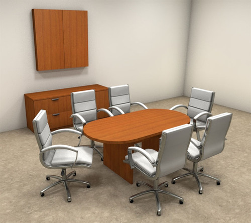 Modern Racetrack 6' Feet Conference Table, #OT-SUL-C1