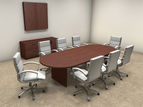Modern Racetrack 10' Feet Conference Table, #OT-SUL-C10