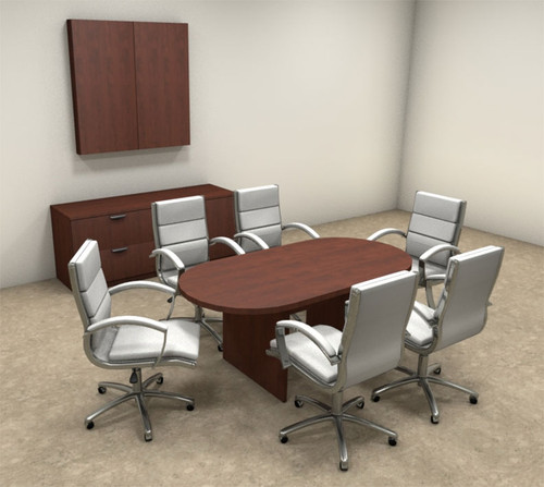Modern Racetrack 6' Feet Conference Table, #OT-SUL-C2