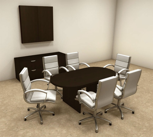 Modern Racetrack 6' Feet Conference Table, #OT-SUL-C4