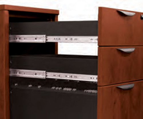 5pc Fan Front Modern Executive Office Desk Set, #OT-SUL-D1