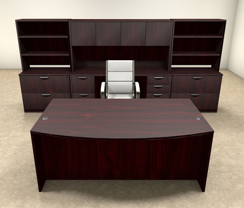 10pc Fan Front Modern Executive Office Desk Set, #OT-SUL-D11