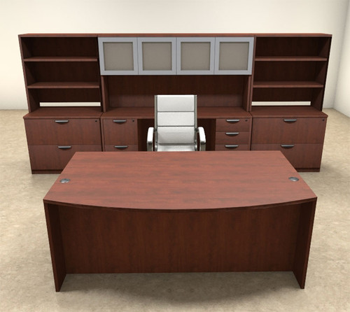 10pc Fan Front Modern Executive Office Desk Set, #OT-SUL-D14