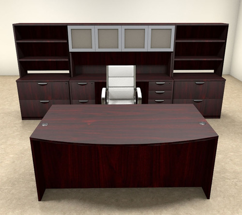 10pc Fan Front Modern Executive Office Desk Set, #OT-SUL-D15