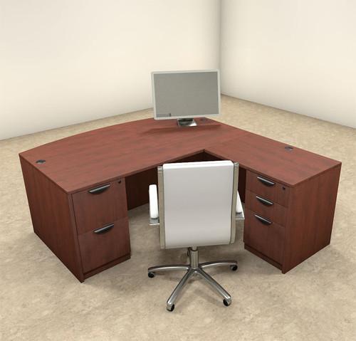 4pc L Shaped Modern Executive Office Desk, #OT-SUL-L2