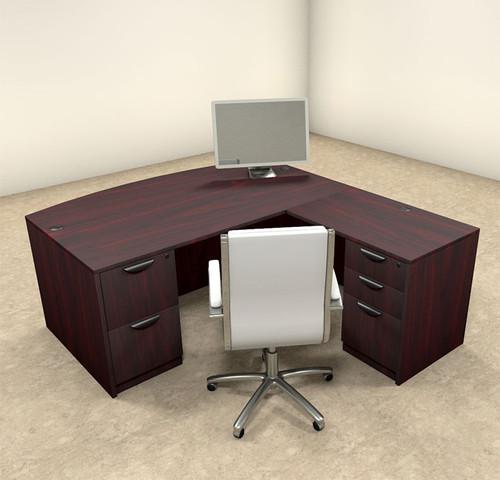4pc L Shaped Modern Executive Office Desk, #OT-SUL-L3