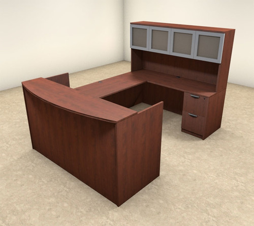 5pc U Shaped Modern Executive Office Reception Desk, #OT-SUL-R10