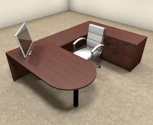 4pc U Shaped Modern Executive Office Desk, #OT-SUL-U10