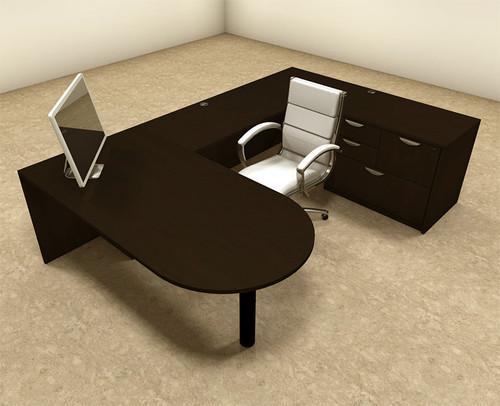 4pc U Shaped Modern Executive Office Desk, #OT-SUL-U12