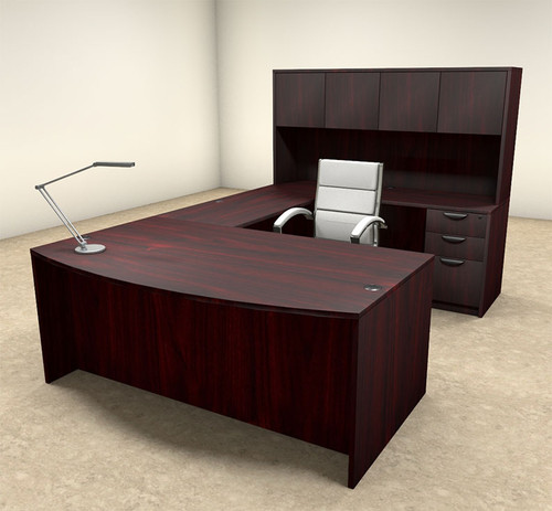 5pc U Shaped Modern Executive Office Desk, #OT-SUL-U15