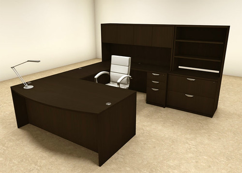 7pc U Shaped Modern Executive Office Desk, #OT-SUL-U20