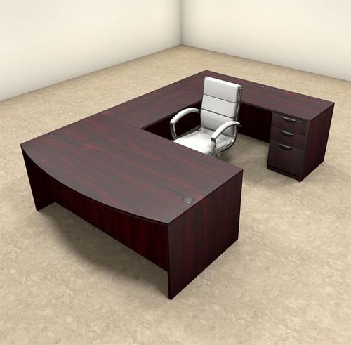 4pc U Shaped Modern Executive Office Desk, #OT-SUL-U3