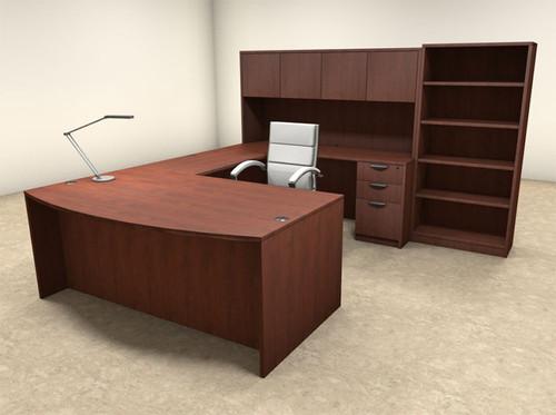 6pc U Shaped Modern Executive Office Desk, #OT SUL U30 ...