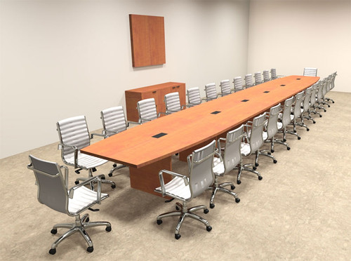 Modern Boat Shapedd 28' Feet Conference Table, #OF-CON-C101