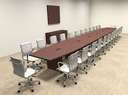 Modern Boat Shapedd 28' Feet Conference Table, #OF-CON-C102