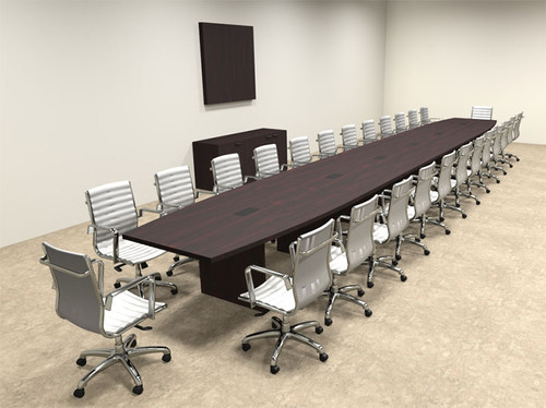 Modern Boat Shapedd 28' Feet Conference Table, #OF-CON-C103