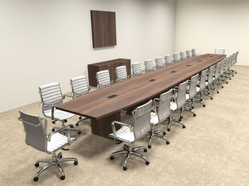 Modern Boat Shapedd 28' Feet Conference Table, #OF-CON-C104
