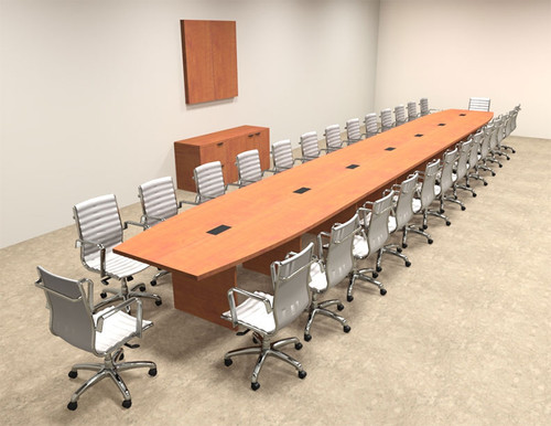 Modern Boat Shapedd 30' Feet Conference Table, #OF-CON-C106