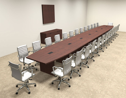 Modern Boat Shapedd 30' Feet Conference Table, #OF-CON-C107