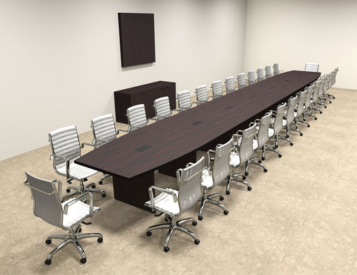 Modern Boat Shapedd 30' Feet Conference Table, #OF-CON-C108