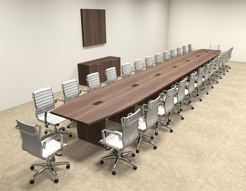 Modern Boat Shapedd 30' Feet Conference Table, #OF-CON-C109