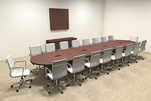 Modern Racetrack 18' Feet Conference Table, #OF-CON-C22