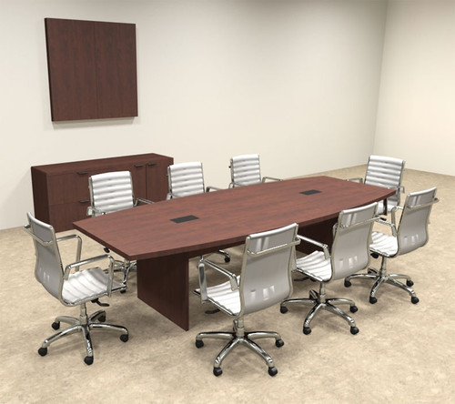 Modern Boat Shapedd 10' Feet Conference Table, #OF-CON-C57