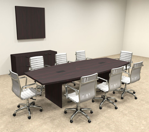Modern Boat Shapedd 10' Feet Conference Table, #OF-CON-C58