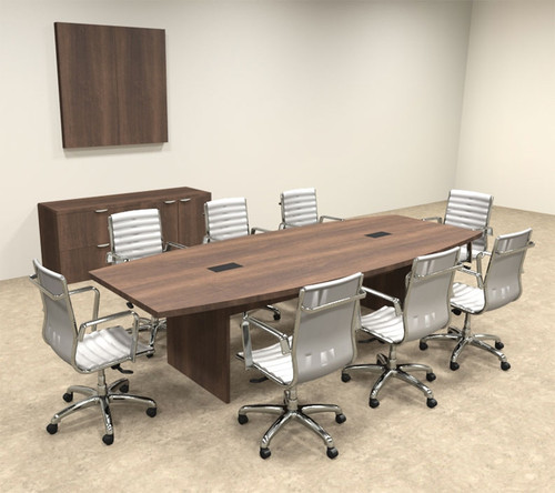 Modern Boat Shapedd 10' Feet Conference Table, #OF-CON-C59