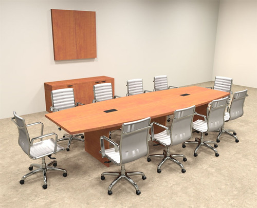 Modern Boat Shapedd 12' Feet Conference Table, #OF-CON-C61