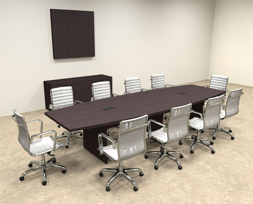 Modern Boat Shapedd 12' Feet Conference Table, #OF-CON-C63