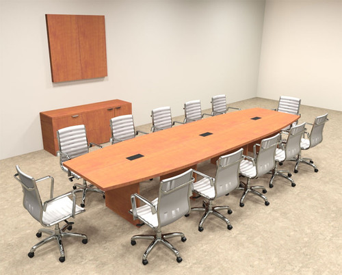 Modern Boat Shapedd 14' Feet Conference Table, #OF-CON-C66